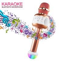 Professional Wireless Karaoke Microphone Bluetooth Speaker Mikrofon Handheld Mic Party KTV Singing Support for Smartphones