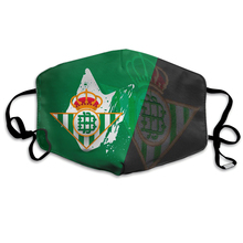 Spanish Re-al Betis Football Club Logo Face Mask Fashion Protection Mask Reusable Washable With PM2.5 Filters For Men Women Kids