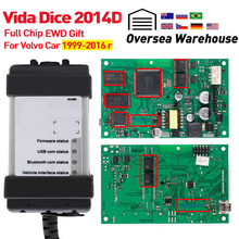 Vida Dice 2014D для автомобиля Volvo от 1999- диагностический инструмент Vida Dice полный чип с EWD зеленая доска OBD2 автомобильный сканер для volvo