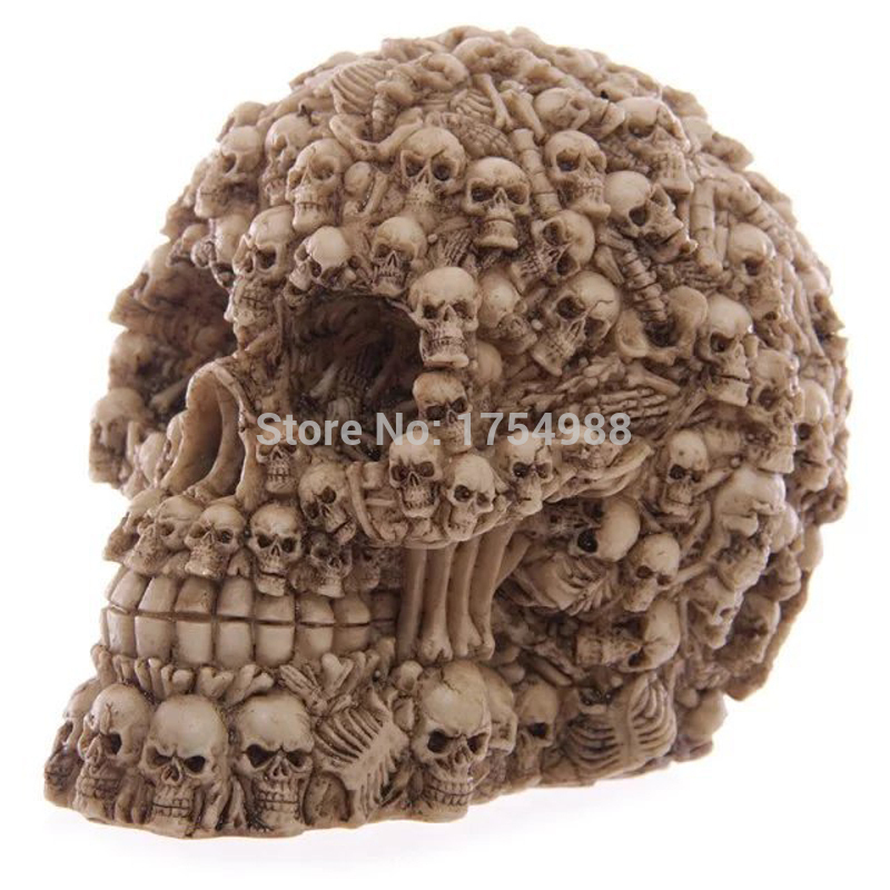 Resin Skull Head Horrible Real Life Escape Room Prop Halloween Event Party Decorations Supplies