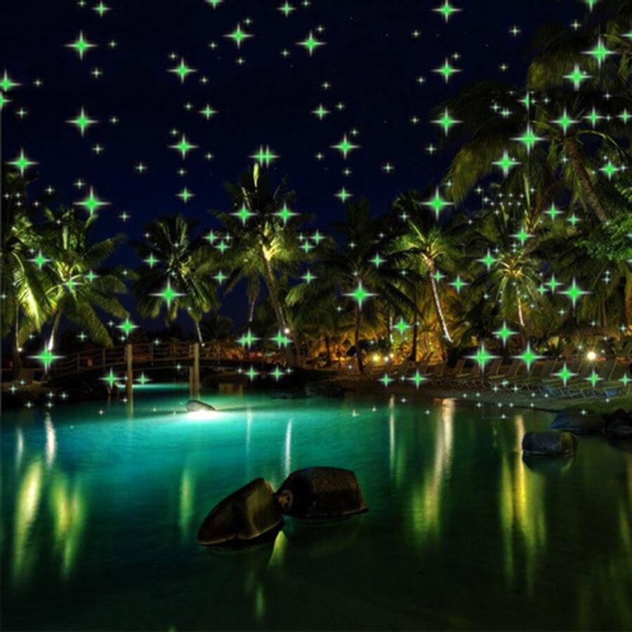 Thrisdar Blinking Eyes Christmas Laser Projector Light Meteor Shower Rain Spotlights Outdoor Holiday Party Green Laser Light