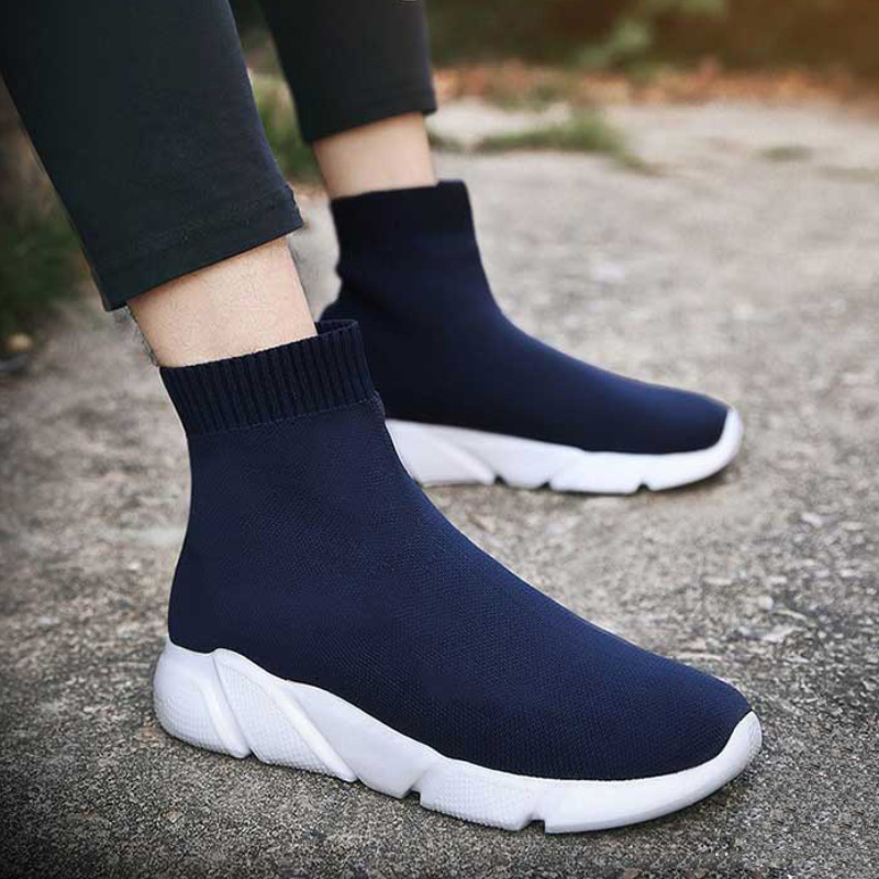Designer Women Socks Sneakers High Top Sneaker Female Trainers Breathable Casual Shoes Ladies Slip On Summer Basket Femme