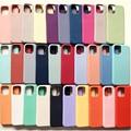 Offizielle Original Silikon Fall Für iPhone 12 Pro X XS Max XR 6 6S 7 8 Plus Fall Logo für iPhone 11 Pro Max SE 2020 Volle Abdeckung