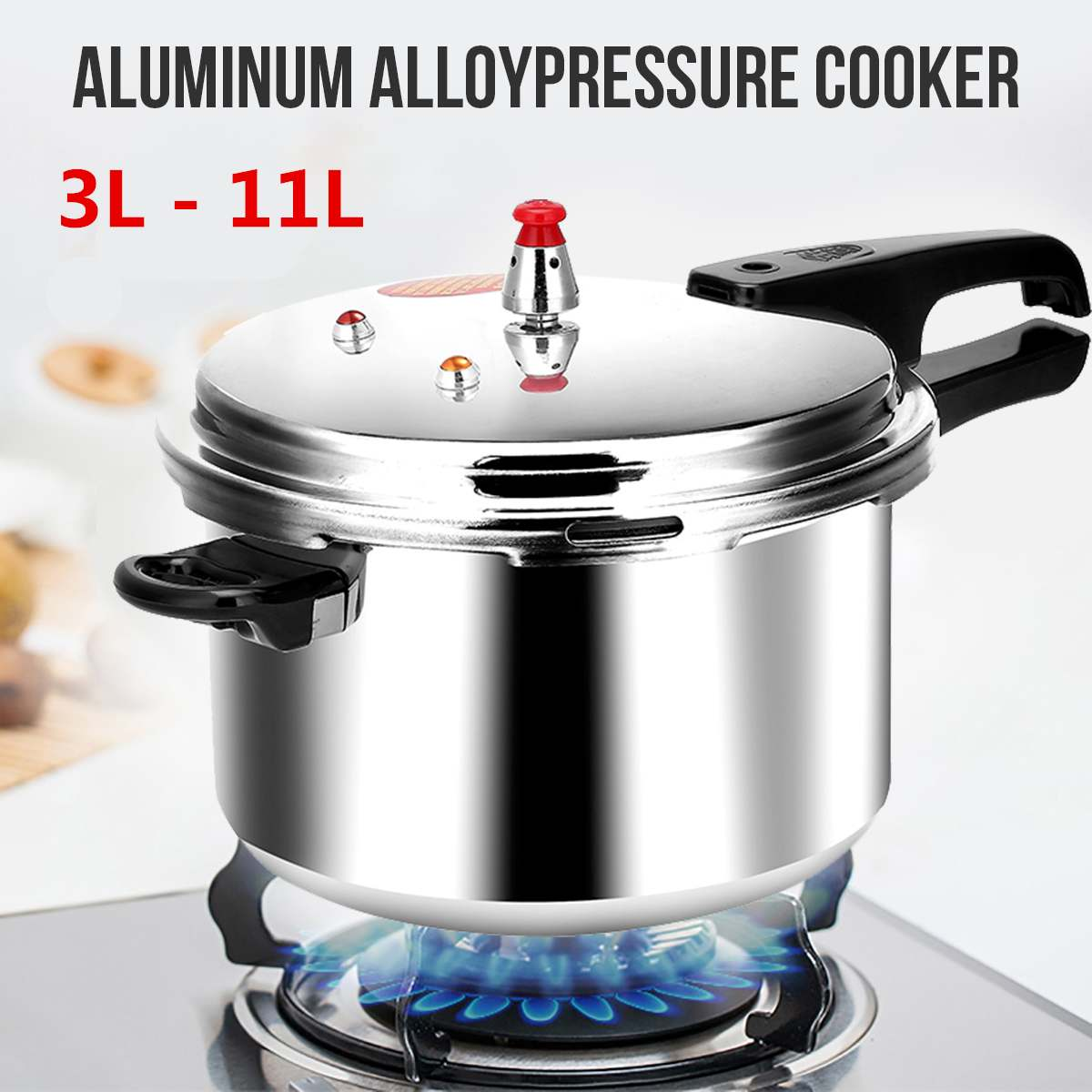18/20/22/28cm Kitchen Pressure Cooker Electric Stove Gas Stove Energy-saving Safety Cooking Utensils Outdoor Camping 3/4/5/11L 1