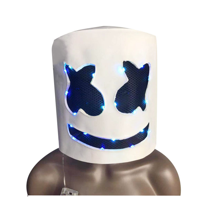 Cotton Candy COS Electric Syllables DJ Marshmello Celebrity Inspired Head Band Halloween Live Costume Mask Wholesale
