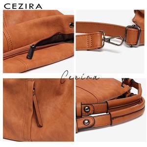 Image 4 - CEZIRA sacs à main en cuir Pu Hobos pour femmes, grands sacs de bonne qualité, sacs à épaule solide de poche, fourre tout pour dames
