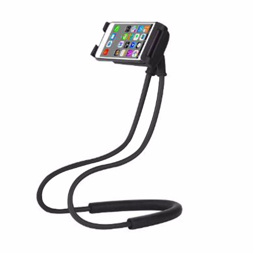 Durable Lazy Neck Phone Holder Universal Mobile Phone Stand 360 Degree Flexible Rotate Tablet Lazy Mount Bracket