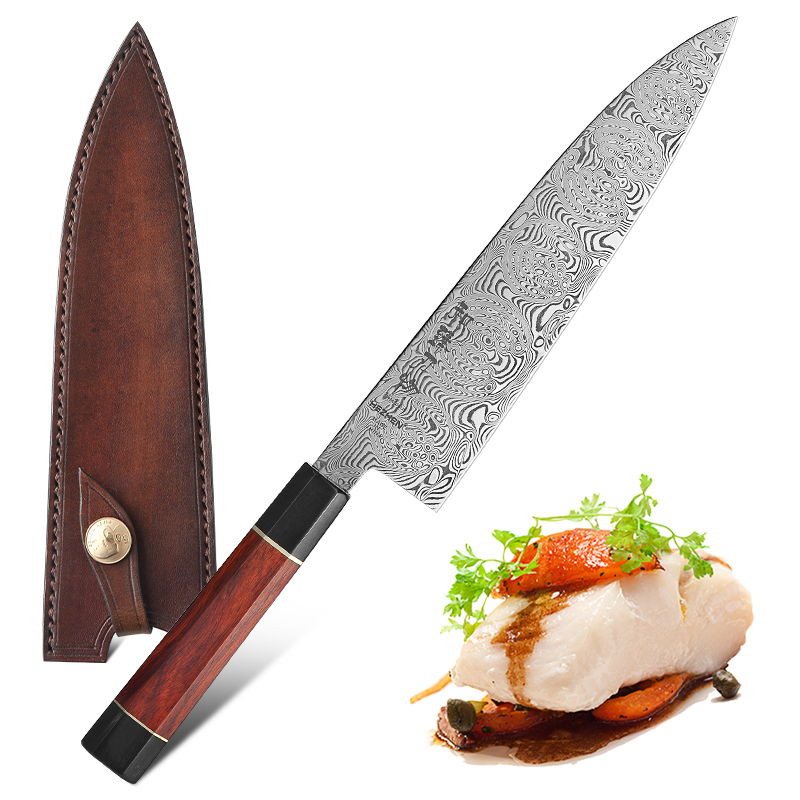 HEZHEN 210mm Gyuto Chef Knife Japanese 110 Layers Damascus Steel Kitchen Knives Professional Kitchen Knives Cooking Slicing Tool image