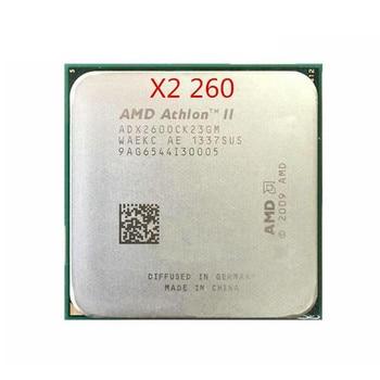 Processeur AMD Athlon II X2 260 X260 Dual Core, AM3 938 CPU 100%, fonctionne correctement, pour ordinateur de bureau
