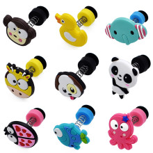 1pc Cute Animals PVC Shoe Charms Shoe Accessories DIY Shoe Decoration For croc jibz Kids Creative Cartoon Spring Shoes Buckles(China)