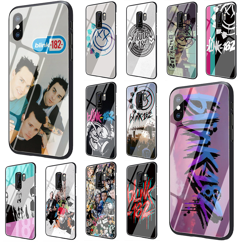 Blink 182 Band Tempered <font><b>Glass</b></font> phone <font><b>case</b></font> for <font><b>Samsung</b></font> S7 Edge S8 S9 S10 Plus Note 8 9 A10 20 30 40 50 60 70 image