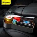 Универсальный Кожаный Автомобильный Органайзер Baseus для автомобильного сиденья  ящик для хранения для карманного органайзера  бумажник для...