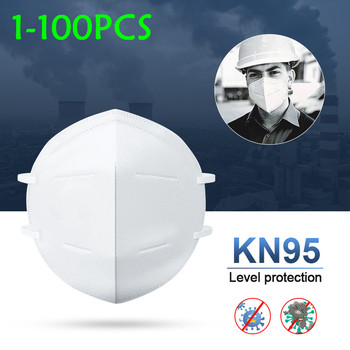 KN95 PM2.5 Anti Dust Mask Activated Carbon Filter Mouth Face Mask N95 FFP2 FFP3 Mouth-muffle Bacteria-proof Masks N95 Respirator 1