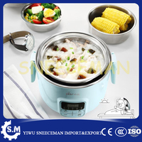 Electric rice box portable three layer can be plug in heating cooking lunch box hot rice machine