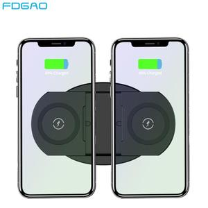 20 Вт двойное Qi Беспроводное зарядное устройство для iPhone 11 Pro XS XR X 8 Airpods Pro 10 Вт Быстрая зарядка двойная зарядная подставка для samsung S10 S9 S8