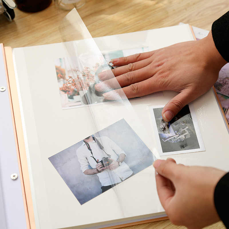 Album Series DIY Photo Album Paste Type Self-adhesive Laminating Cottage Creative Couples Romantic Book Birthday Souvenir Gift