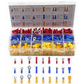 700PCS Assorted Insulated Electrical Wire Crimp Cable Connector Spade Butt Ring Fork Set Ring Lugs Rolled Terminals Kit