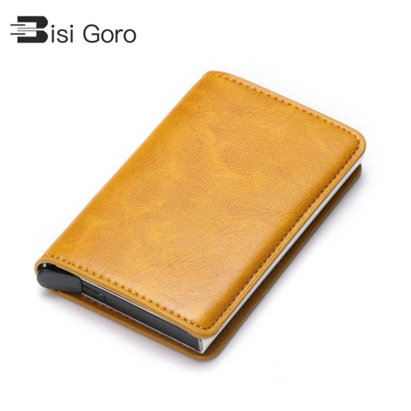 Men Antitheft Wallet RFID Blocking Pop-up Leather Card Holder Purse Gift