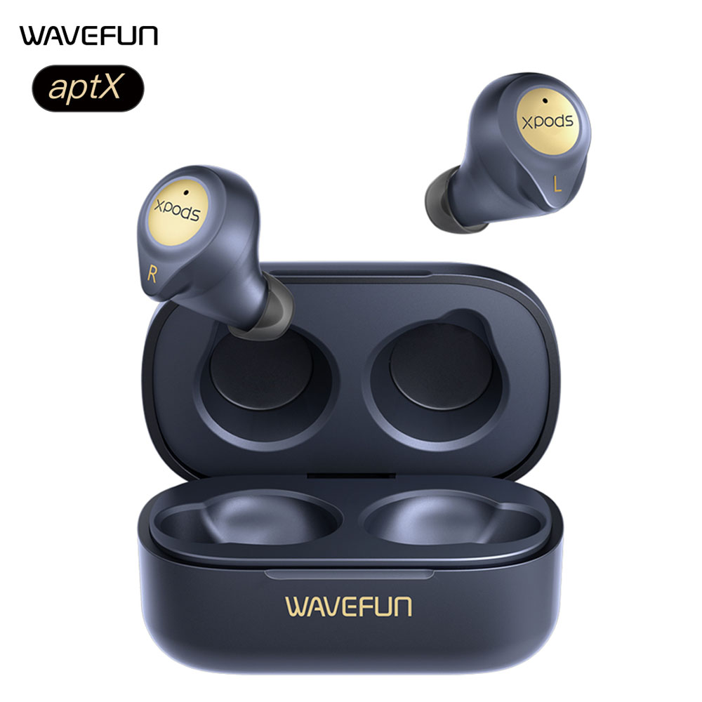 Wavefun Bluetooth Earphone HIFI aptX Wireless Charging Headphones Totally 45Hours Music Time Earbuds CVC8.0 with Dual Mic|Phone Earphones & Headphones|   - AliExpress