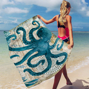 Ręcznik plażowy ręcznik plażowy quicky-dry ręczniki kąpielowe z mikrofibry poduszka plażowa ręcznik kąpielowy mata do jogi piasek bezpłatny żółwiem morskim ręcznik plażowy tanie i dobre opinie Beach Towel żakaradowy Rectangle 270g yw001 Szybkoschnący Drukuj 80 włókna poliestrowego + 20 poliamidu
