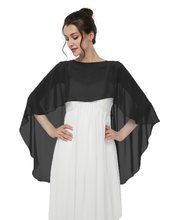 Chiffon Capes Soft Shawls and Wraps Capelets for Bridesmaid Wedding Formal Party Evening Dresse