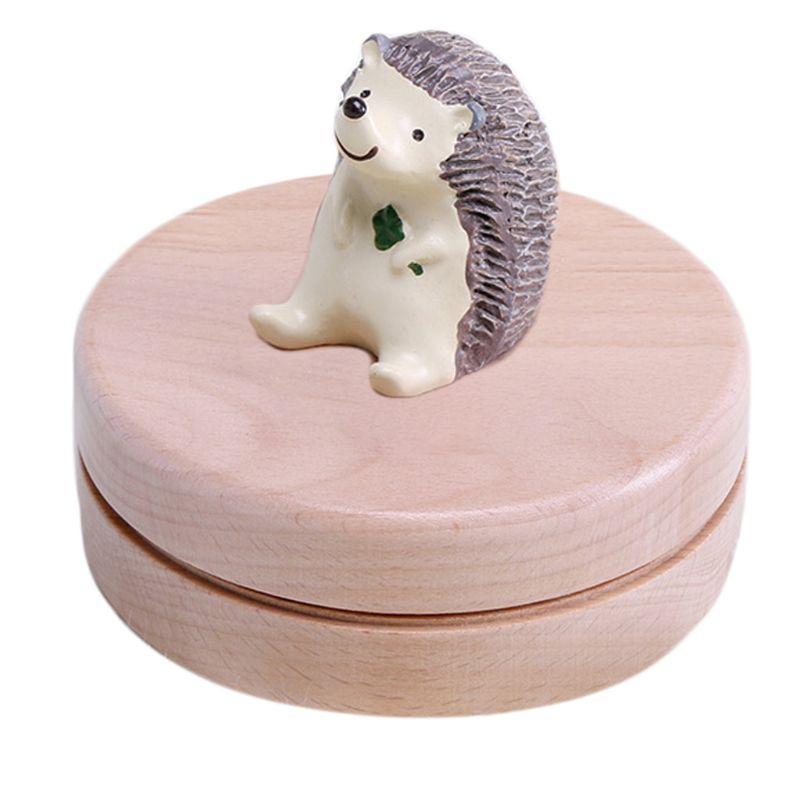 Beech Baby Tooth Storage Box Milk Teeth Memory Keeper Case Organizer Kids Gift 094F