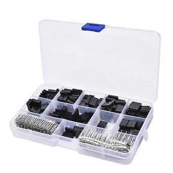 620pcs Dupont Connectors 2.54mm Dupont Cable Jumper Wire Pin Header Housing Assortment Kit Male Crimp Pins+Female Pins Terminals