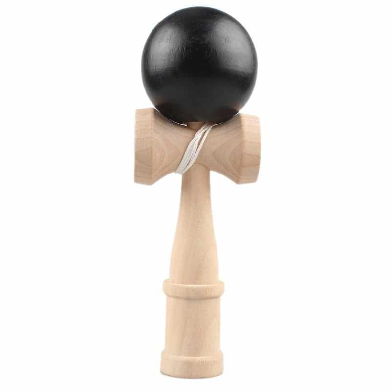 1 Pza de bambú PU pintura de madera kedama bolas de madera hábil Jumbo kedama al aire libre malabares juego bolas juguetes para regalo profesional Woode rock
