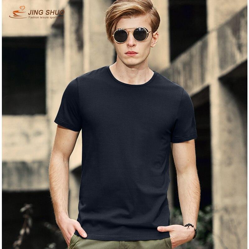 2019 летняя новая Высококачественная Мужская футболка, Повседневная футболка с коротким рукавом из 100% хлопка, Мужская брендовая белая