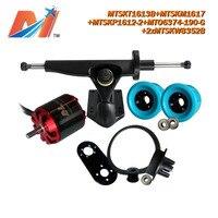 Maytech (6 stücke) powered skateboard 6374 190KV bürstenlosen motor mit no-sensor und lkw/rad/pulley combo