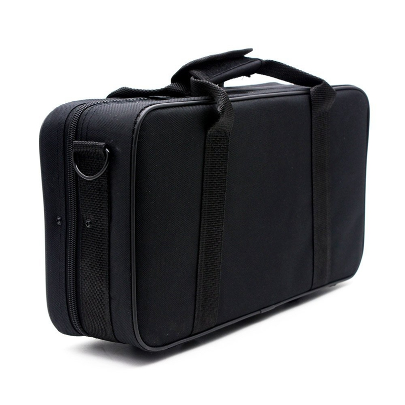 600D Water-resistant Gig Bag Box Oxford Cloth For Clarinet With Adjustable Single Shoulder Strap Pocket Foam Cotton Padded