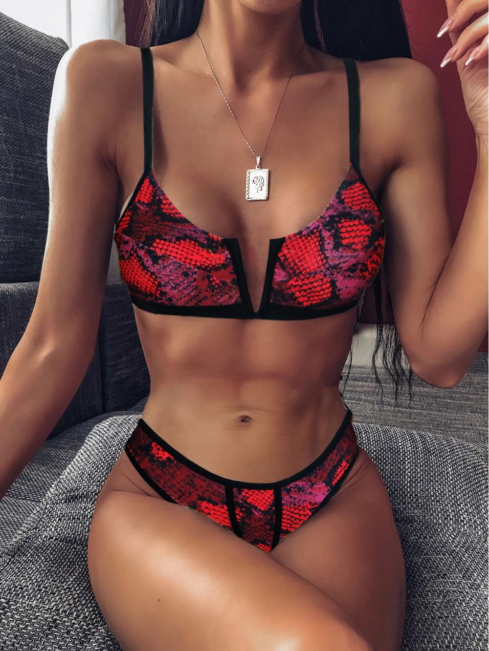 ALI shop ...  ... 32798124247 ... 3 ... 2019 New top sexy solid swimwear push up bikini bandage sport suit high cut bathing suit bandeau swimsuit women bikini set 2507 ...
