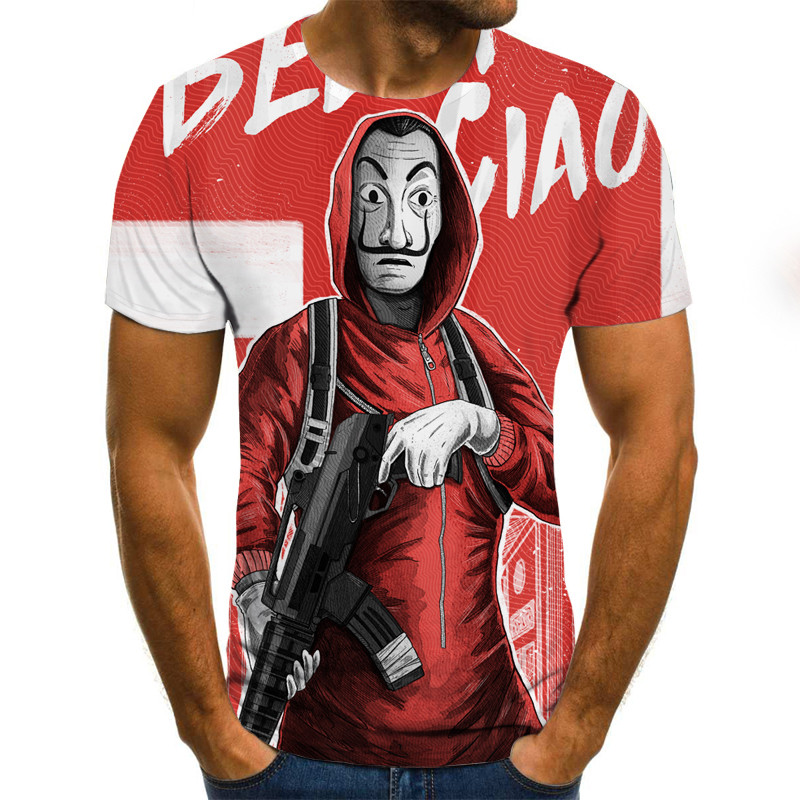 2020 Newest Role Play 3D Print Cool Funny T-Shirt Men Short Sleeve Summer Tops 3d Tshirt Male Fashion T-shirt