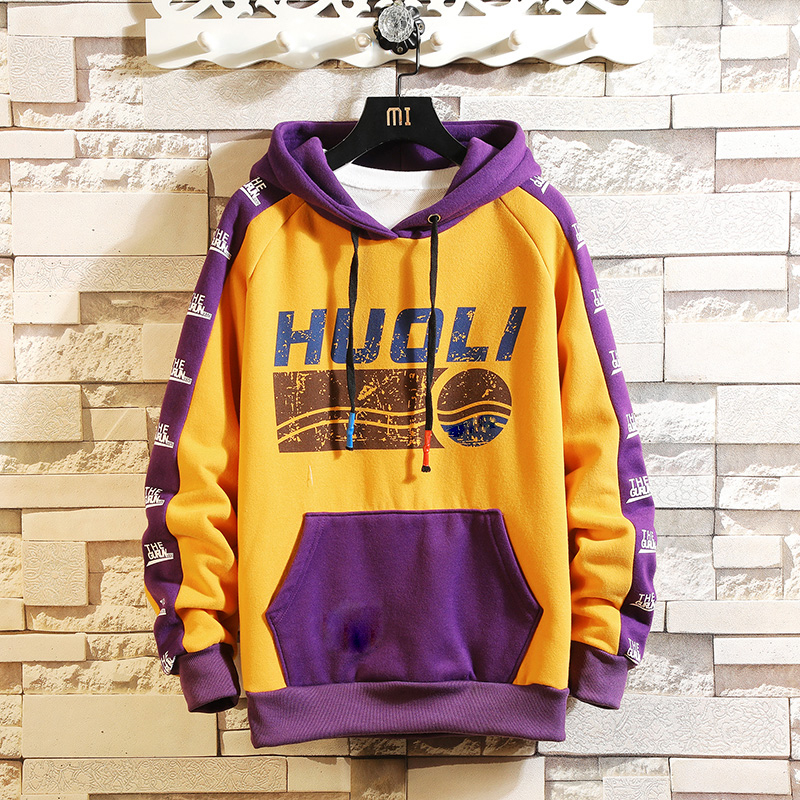 Autumn Spring 2020 Hoodie Sweatshirt Mens Hip Hop Pullover Streetwear Casual Fashion Clothes  Plus Asian Size M-5XL