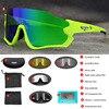 Polarizado óculos de ciclismo homem esporte óculos de sol photochromic uv400 5 lente deportivas polarizadas hombre gafas oculos ciclismo 13