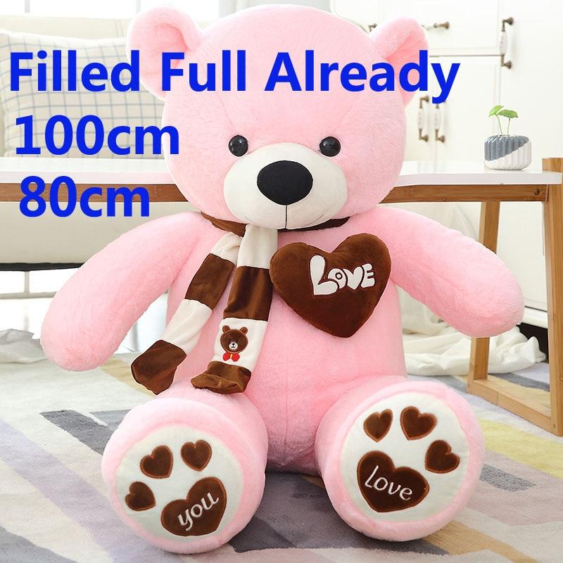 "32/""Huge Soft Teddy Bear Plush pillow Stuffed Doll Toy Xmas Present gifts"