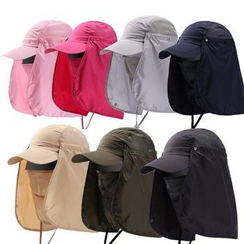 100 sztuk na zewnątrz piesze wycieczki wędkowanie kapelusz twarzy ochrona UV odporne na słońce szybkie suche kapelusz tanie i dobre opinie Pszczelarstwo Kapelusze