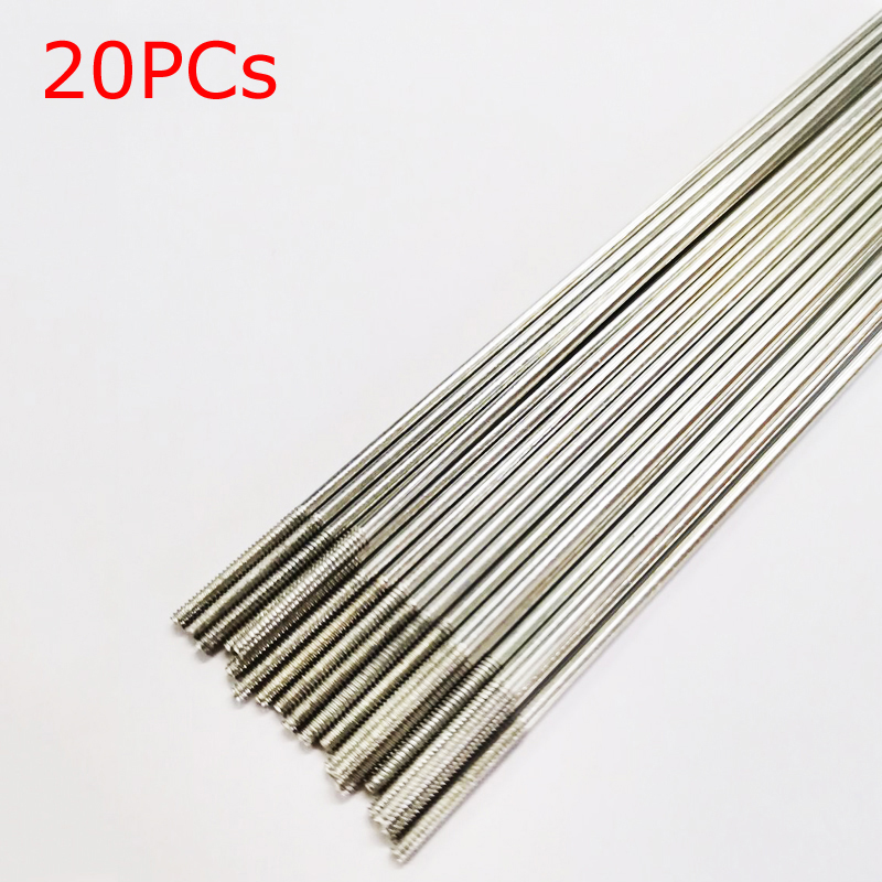 20PCs Dia 1.2mm Steering Gear Tapping Rod Lever Servo Linkage Pushrod Double Thread Rods Bar Studs for RC Aircraft Accessories