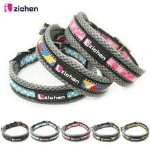 Zichen Pet Dog Collar Adjustable Printing Reflective Double Layer Nylon Durable Necklace Training Supplies 5 Color S-L