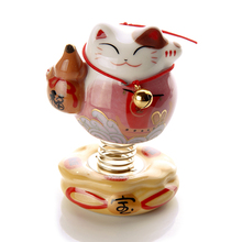 Lucky cat car ornaments spring base car supplies ceramic creative gifts home office small ornaments