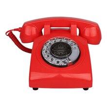 Ретро винтажный поворотный дизайн стационарный телефон для дома, отеля, офиса, настольный телефон, телефон с циферблатом FSK/DTMF для автоматического обнаружения