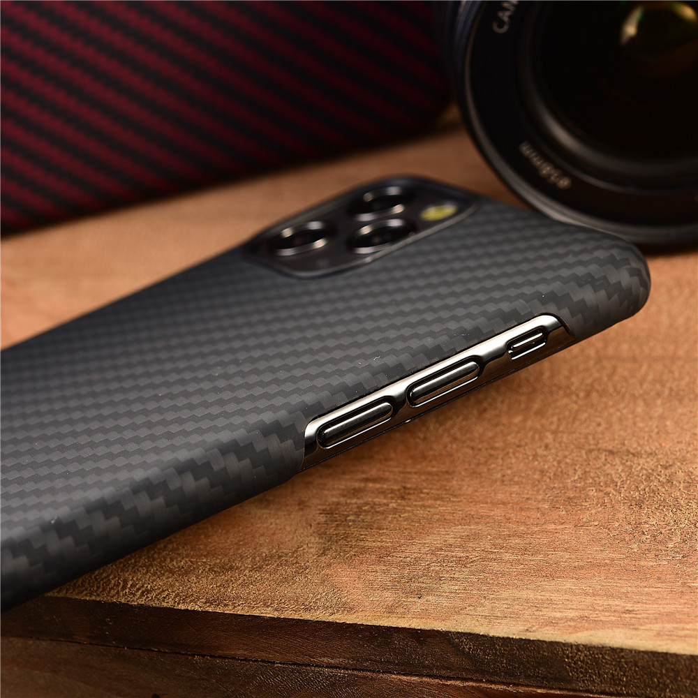 Image 4 - Aramid fiber Back Cover For apple iphone 11 pro max XS XR X 