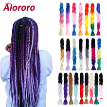 Alororo Purple Ombre Braiding Hair for Jumbo Braid