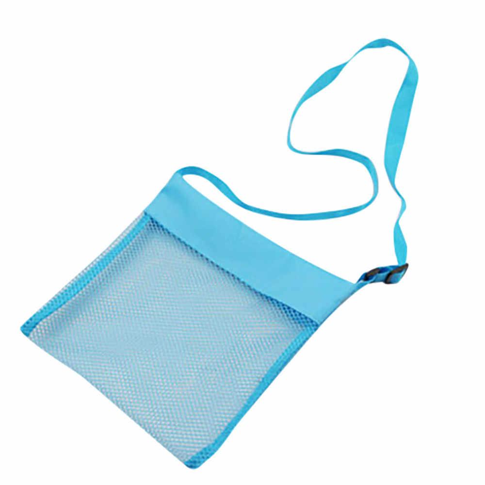 Dzieci śmieszne stałe siatki torby plażowe dzieci muszla morze pokrowiec torba na zabawki dla niemowląt chłopcy dziewczęta torba na co dzień bolsa infantil menina 2020