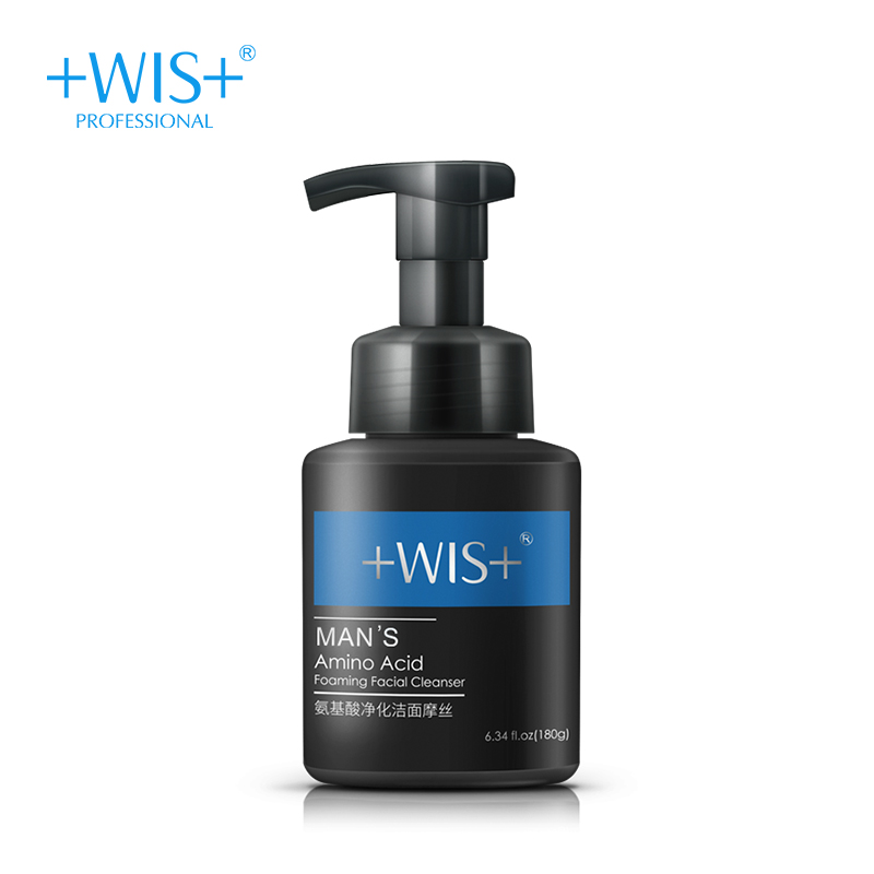 WIS man's amino acid oaming facial cleanser purifying and cleansing mousse salubrious oil control bubble moderate moisture