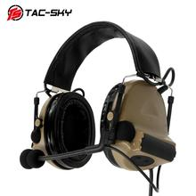 TAC-SKY COMTAC II Silicone Earmuffs Edition Hunting Noise Reduction Air Gun Military Shooting Tactical Headset C2 DE