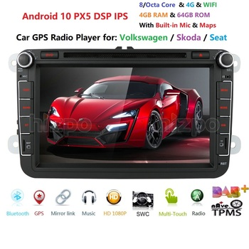 DSP IPS Car Multimedia player Android 9.0 GPS 2 Din Car Autoradio Radio For VW/Volkswagen/Golf/Polo/Passat/b7/b6/SEAT/leon/Skoda image