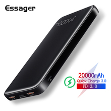 Essager 20000mah Power Bank Quick Charge 3.0 USB C PD Powerb