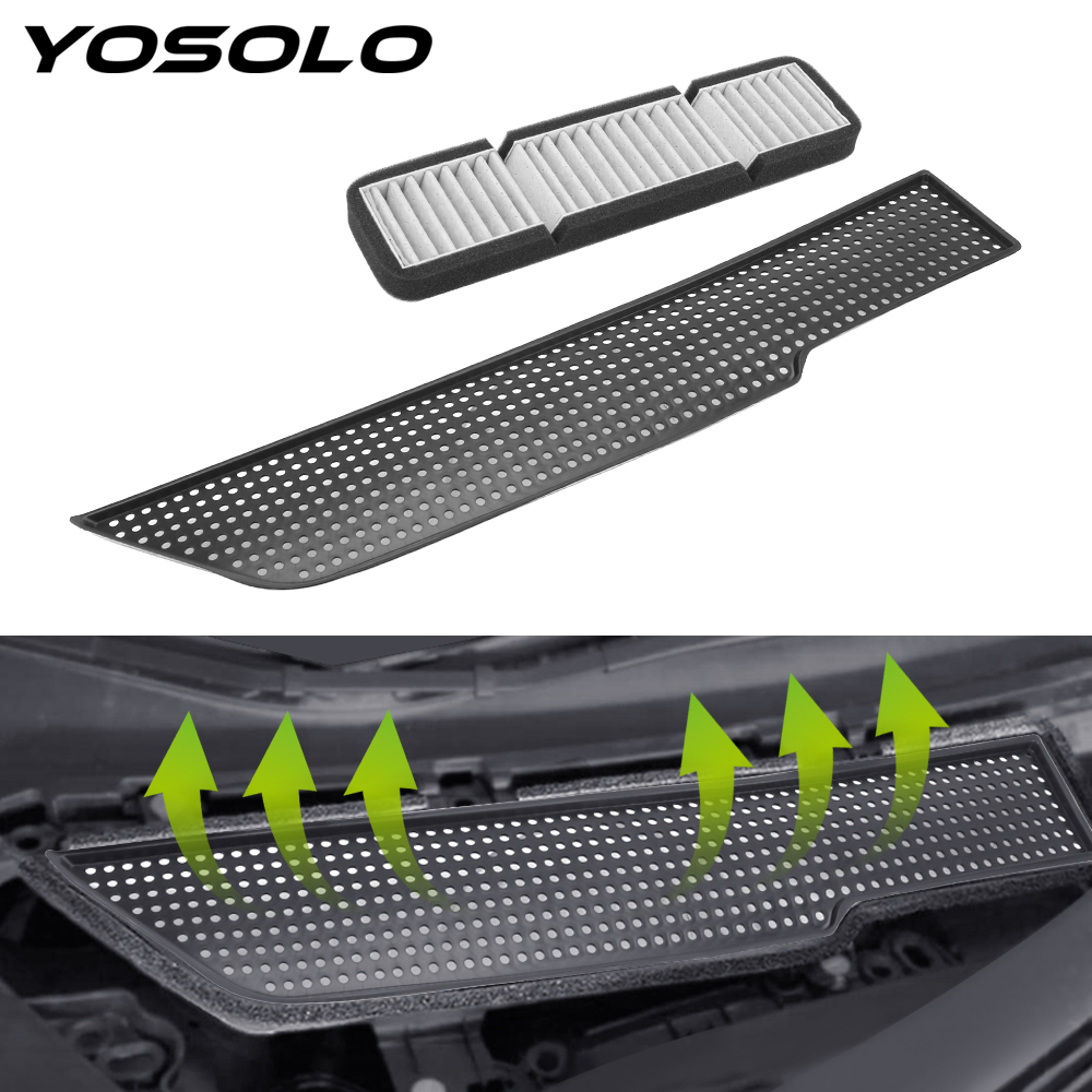 YOSOLO For Tesla Model 3 Air Conditioning Air Inlet Protective Cover Car Air Flow Vent Filter Cover Car Accessories