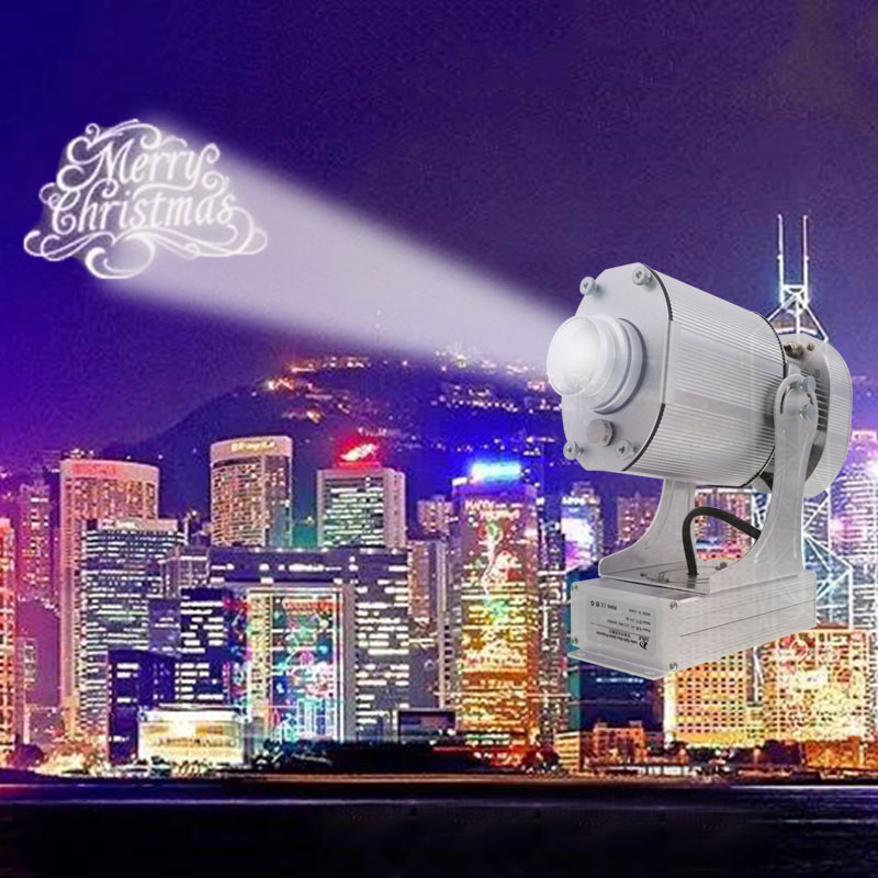 2019 新レーザーロゴプロジェクターカスタム 21 メートルの距離投影画像屋外広告 Proyector Publicidade Expositor ホット販売